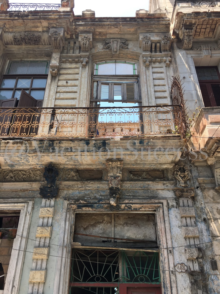 Old Havana Crumbling Building