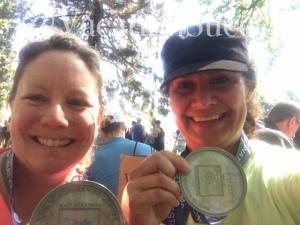 Hard earned Napa to Sonoma Half Marathon Destination Races hardware